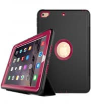 iPad 9.7 Defender Case With Stand and Cover Dark Pink