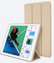 Silicone Case With Smart Cover for iPad 9.7-inch 5th Gen Gold