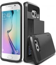 Verus Dark Silver Galaxy S6 Edge Case Damda Card Slide Series