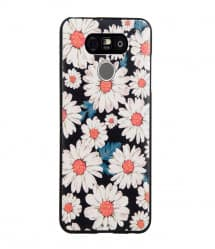 Daisy Floral Pattern Leather Feel Case for LG G6