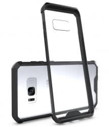 Clear Back Hybrid Bumper Case for Galaxy S8 Plus