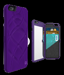 iFrogz Charisma Wallet Mirror Case for iPhone 6 Purple
