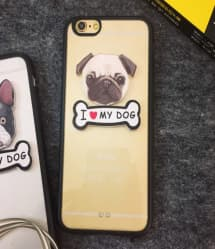 I Love My Dog Pug and French Bulldog iPhone 5 5S Case