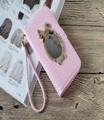 Mirror Flip Wallet Case for iPhone 7 Plus