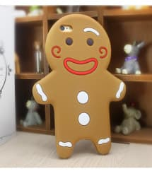 Cute 3D Gingerbread Man Cookie Case for iPhone 7