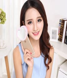 LED Selfie Beauty Heart Flash for iPhone SE 5s 5