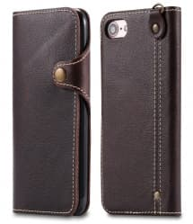 Leather Wallet Case With Latch for iPhone 7