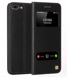 Leather Flip Window Case for iPhone 7