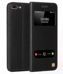 Leather Flip Window Case for iPhone 7 Plus