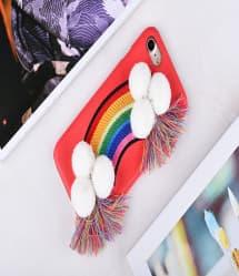 Rainbow Fabric iPhone 7 Plus Case
