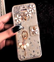 Luxury Rhinestone Bling Flip Wallet Case for iPhone 7