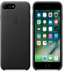 Leather Case for Apple iPhone 7 Plus Black