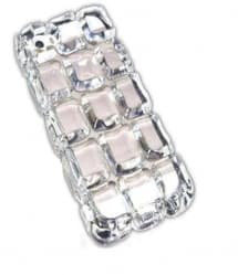 Sharp N' Chic Frozen Ice Block Cube 3D Ruby Gem iPhone 5 5s Case