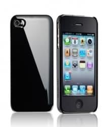 Essential TPE Iro Black UV Coating Snap Case for iPhone 4
