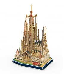 3D Model Puzzle Cubic Fun-Spain Iglesia de la Sagrada Familia 194pcs