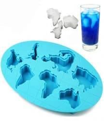 World Atlas Map Continent Ice Cube Tray