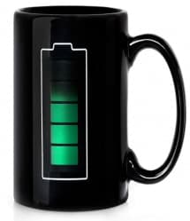 Battery Meter Temperature Mug