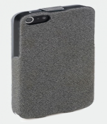 Grey ROCK Flip Leather Case