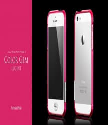 more Color Gem Lucent Jelly Ring for iPhone 5 Fuchsia Pink