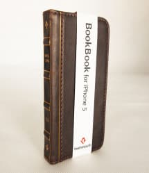BookBook Leather Wallet ID Case Brown iPhone 5