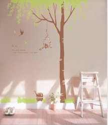 Lovebirds in Tree Wall Decal Sticker