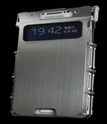 Armor King Metal Flip Aluminum Brushed Stainless Steel Case for Samsung Galaxy S4