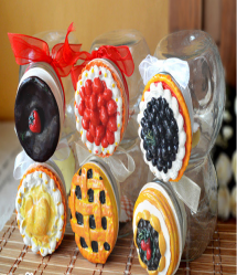 Cute Pie Top Candy Mason Jar 150ml 5oz