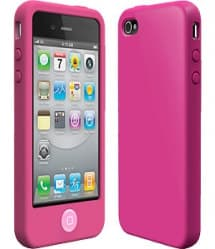 SwitchEasy Colors Fuchsia Pink Silicone Case for iPhone 4