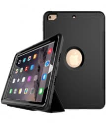 iPad 9.7 Defender Case With Stand and Cover Black