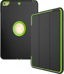 iPad 9.7 Defender Case With Stand and Cover Green