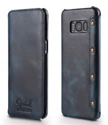 Premium Leather Flip Case for Galaxy S8 Plus