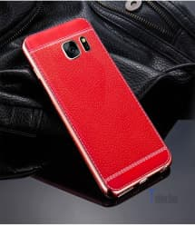 Metal Leather Case for Galaxy S8