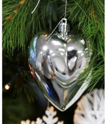Heart Shape Christmas Tree Bulbs 3 Pcs