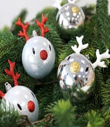 Reindeer Shape Christmas Tree Bulkbs 4 Pcs