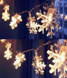 Snowflake Shape LED Christmas Lights - 5 Meters /  16 Feet