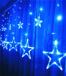 Star Shape LED Christmas Lights 2 Meteres 6.5 Feet - 12 Stars