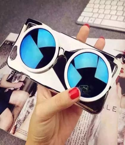 Chrome Cool Shades Style Sunglasses iPhone 6 Plus Thin Case