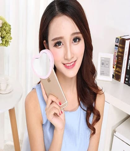 LED Selfie Beauty Heart Flash for iPhone 7