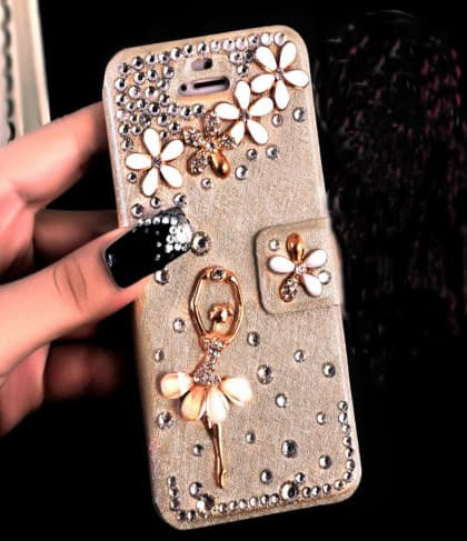 Luxury Rhinestone Bling Flip Wallet Case for iPhone 7