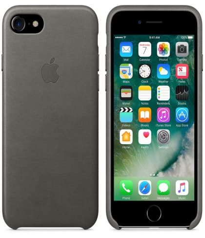 Leather Case for Apple iPhone 7 Storm Gray