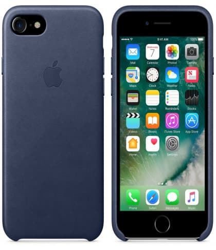 Leather Case for Apple iPhone 7 Midnight Blue