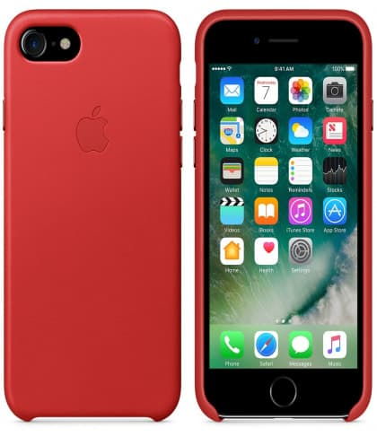 Leather Case for Apple iPhone 7 Red