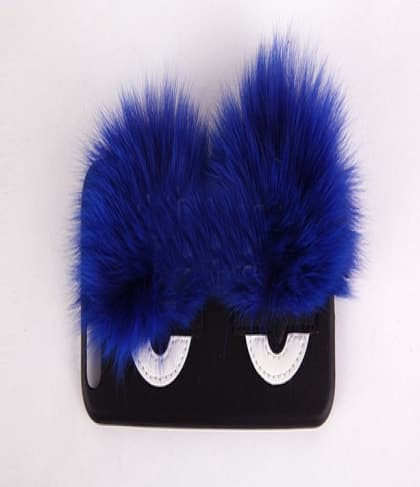 Monster Eyes Fur Leather Case for iPhone 7