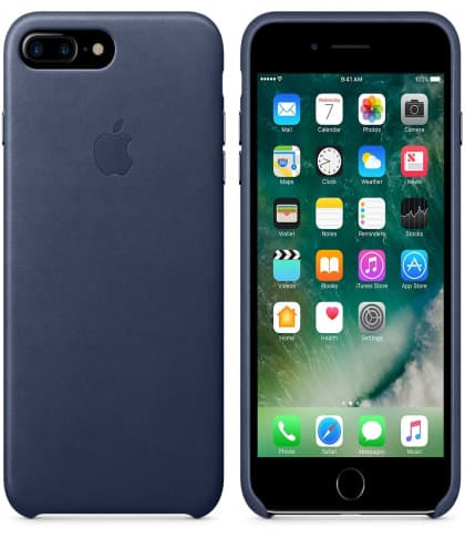 Leather Case for Apple iPhone 7 Plus Midnight Blue