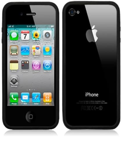 Silicone Rubber Bumper Frame for iPhone 4