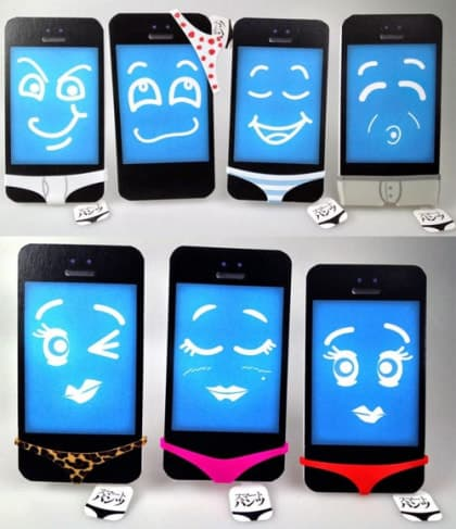 Sexy Smart Pants Underwear for iPhone 5 4/4S and Galaxy S4 S3