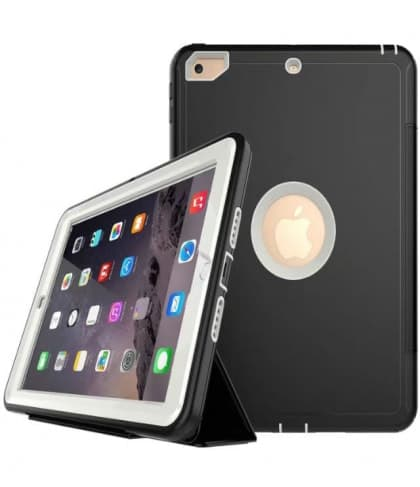iPad 9.7 Defender Case With Stand and Cover White