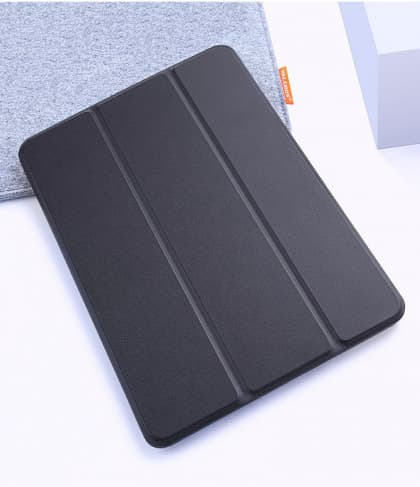 Silicone Case With Smart Cover for iPad 9.7-inch 5th Gen Black