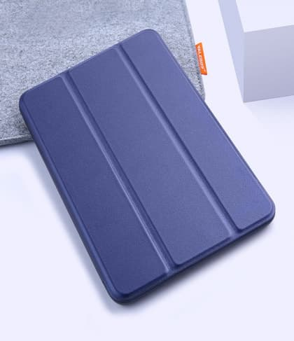 Silicone Case With Smart Cover for iPad 9.7-inch 5th Gen Midnight Blue