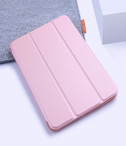 Silicone Case With Smart Cover for iPad 9.7-inch 5th Gen Pink